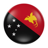 Papua New Guinea button on white background. 3d rendering of a Papua New Guinea flag on a button Stock Image