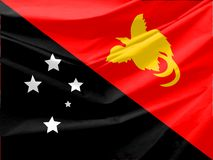 Papua New Guinea Flag Royalty Free Stock Photos