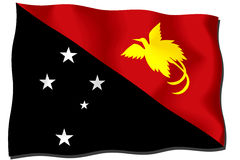 Papua New Guinea Flag Stock Image