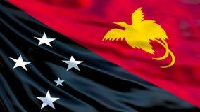 Papua New Guinea flag. 3d illustration vector illustration