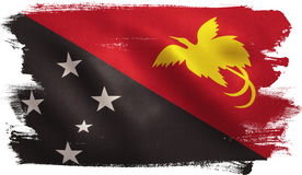 Papua New Guinea Flag. With fabric texture. 3D illustration Royalty Free Stock Image