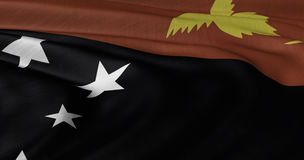 Papua New Guinea  flag fluttering in light bre Royalty Free Stock Images