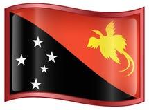 Papua New Guinea Flag Icon Royalty Free Stock Photos