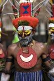 Papua New Guinea Islander. American Samoa - Circa 2008 - Solomon Island dancers perform at 2008 Pacific Arts Festival Royalty Free Stock Image