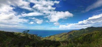 Papua New Guinea Mountain Landscape Panorama stock photos