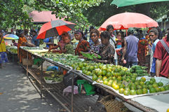 PAPUA NEW GUINEA PEOPLE. Food market, Rabaul, Papua New Guinea Stock Photo