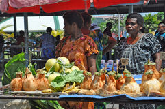 PAPUA NEW GUINEA PEOPLE. Food market, Rabaul, Papua New Guinea Royalty Free Stock Photos