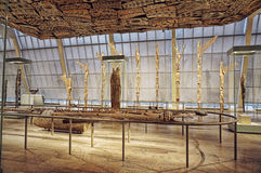 Papua New Guinea shileds hung from roof in Metropolitan Museum of Art Royalty Free Stock Photo
