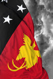 Papua New Guinea waving flag on a bad day Royalty Free Stock Photo