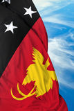 Papua New Guinea waving flag on a beautiful day Royalty Free Stock Photography