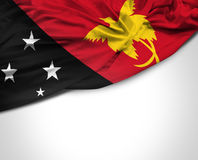 Papua New Guinea waving flag on white background Stock Photography