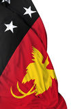Papua New Guinea waving flag on white background Royalty Free Stock Photos