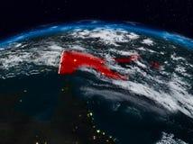Papua - nowa gwinea przy nocą zdjęcie stock