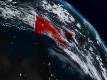 Papua - nowa gwinea przy nocą ilustracji
