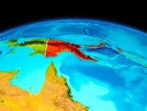 Papua Nya Guinea i rött Arkivfoton