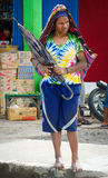 Papua woman on the market in Wamena Royalty Free Stock Photography