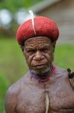 Papuan人, Wamena,巴布亚,印度尼西亚 免版税库存照片
