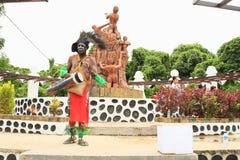 Papuan i stamkläder Arkivfoton
