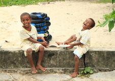 Papuan kids Royalty Free Stock Photos