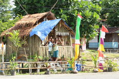 Papuan men posing in Manokwari Royalty Free Stock Images