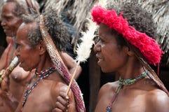 Papuan trib的妇女 免版税库存图片