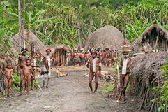 Papuan tribe at New Guinea Island Stock Photo