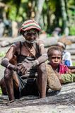 Papuan woman from Asmat tribe Royalty Free Stock Photo