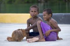 Papuanpojkar Royaltyfria Foton