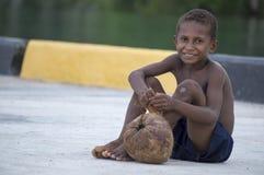 Papuanpojke Royaltyfri Bild