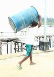 Papuaski pracownik zdjęcie royalty free