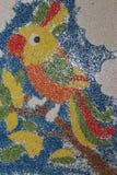 Papuga malująca na kanwie Obraz Royalty Free