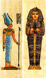 papyrus égyptien deux Photographie stock libre de droits