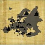 papyrus карты европы привлекательности старый Иллюстрация вектора