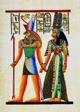 Papyrus_2 egiziano immagini stock libere da diritti