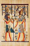 Papyrus. With elements of egyptian ancient history Stock Photos