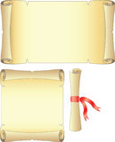 Papyrus. Paper scroll. Isolation on a white background.Vector illustration Royalty Free Stock Photography