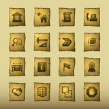 Papyrus building icons Royalty Free Stock Images