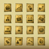 Papyrus business icons Stock Photo