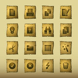 Papyrus document icons Stock Photo