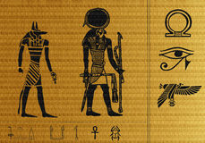 Papyrus of Egypt. An egyptian papyrus with hieroglyphes Royalty Free Stock Photos