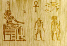 Papyrus of Egypt. An egyptian papyrus with hieroglyphes Royalty Free Stock Photography