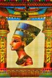 Papyrus Egyptische Nefertiti-Koningin van Egypte Papyrus het schrijven materiaal, in oudheid gemeenschappelijk in Egypte In de ku royalty-vrije stock fotografie
