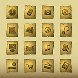 Papyrus home electronics icons Royalty Free Stock Photos