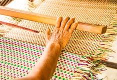Papyrus mat making Stock Image