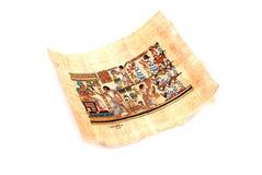 Papyrus op het wit stock afbeelding