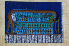 Papyrus painting of Egyptian Goddess Nut Stock Images