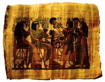 Papyrus Paper Egypt Painting Royalty Free Stock Image