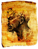Papyrus Paper Sketch. Ancient greek painting on the papyrus paper Royalty Free Stock Photo