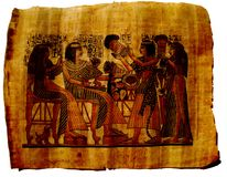 Papyrus-Papierägypten-Anstrich Stockfotografie