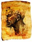 Papyrus-Papierskizze Lizenzfreies Stockfoto